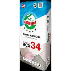 Клей для керамогранита Ансерглоб ВСХ-34 (Anserglob BCX-34), 25 кг