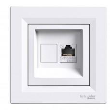 Розетка Asfora компьютерная белая EPH4300121, Schneider (Шнайдер)